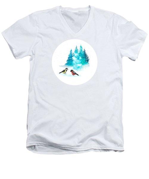 The Heart Of Winter Men's V-Neck T-Shirt