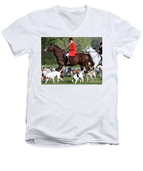 The Hunt Is On Men's V-Neck T-Shirt
