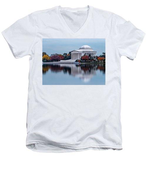 The Jefferson In Baby Blue Men's V-Neck T-Shirt