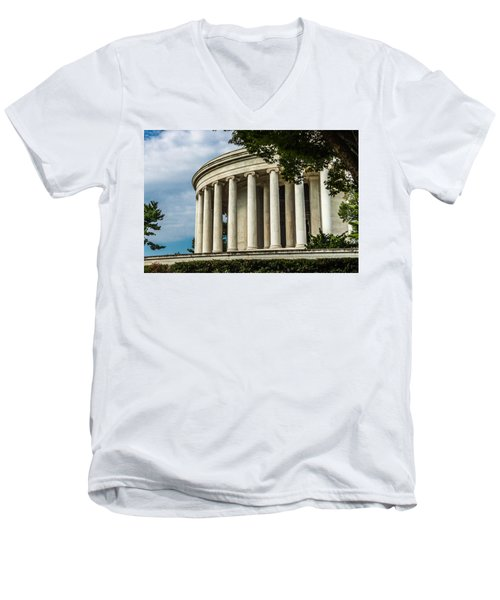 The Jefferson Memorial Men's V-Neck T-Shirt