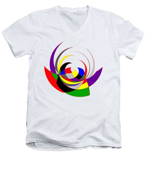 The Jester Men's V-Neck T-Shirt by Methune Hively
