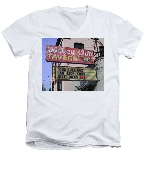 The Jockey Club Men's V-Neck T-Shirt