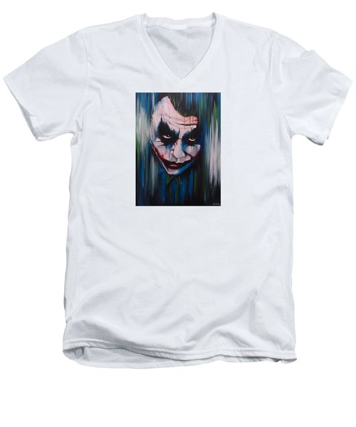 The Joker Men's V-Neck T-Shirt by Michael Walden