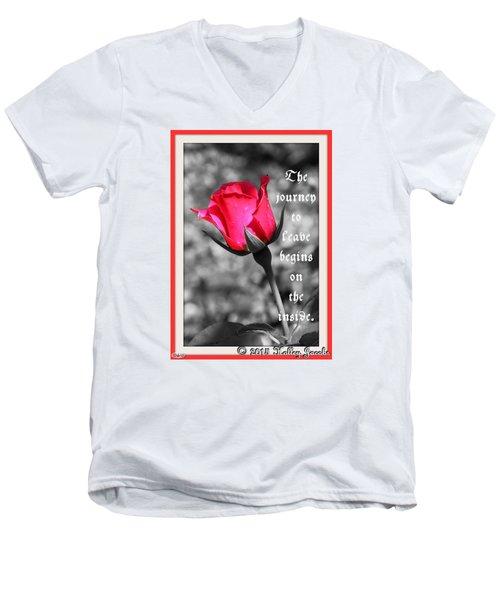 The Journey Begins Men's V-Neck T-Shirt