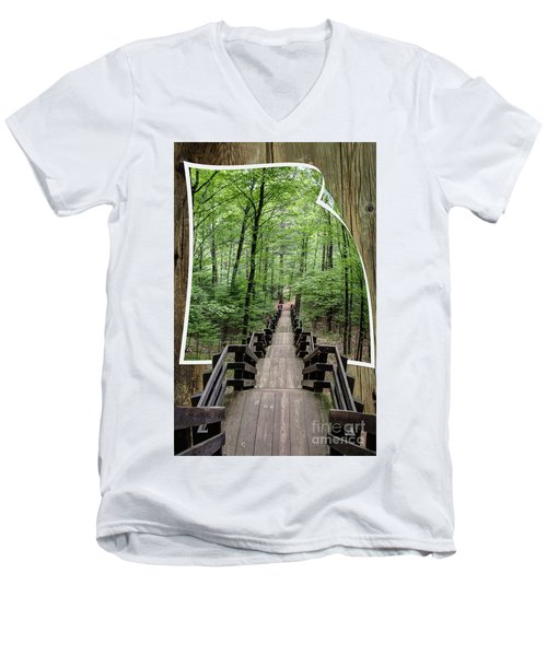 The Journey  Men's V-Neck T-Shirt