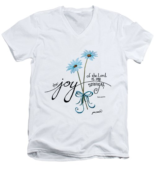 The Joy Of The Lord Outlilne By Jan Marvin Men's V-Neck T-Shirt