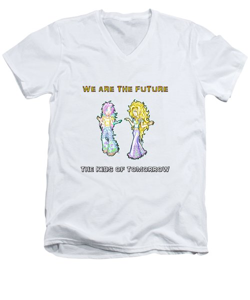 The Kids Of Tomorrow Ariel And Darla Men's V-Neck T-Shirt by Shawn Dall