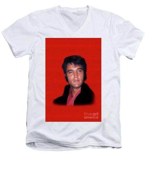 The King Rocks On L Men's V-Neck T-Shirt