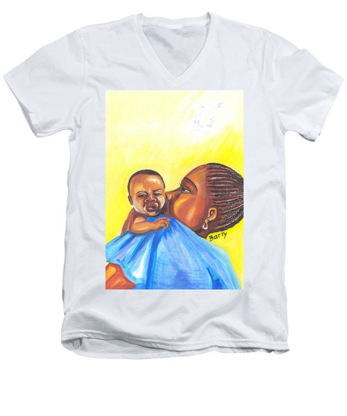 The Kiss Of A Mother In Senegal Men's V-Neck T-Shirt