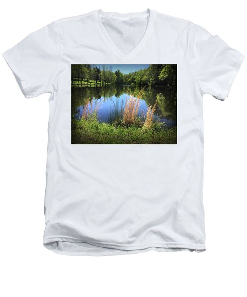 The Lake At Musgrove Mill Men's V-Neck T-Shirt
