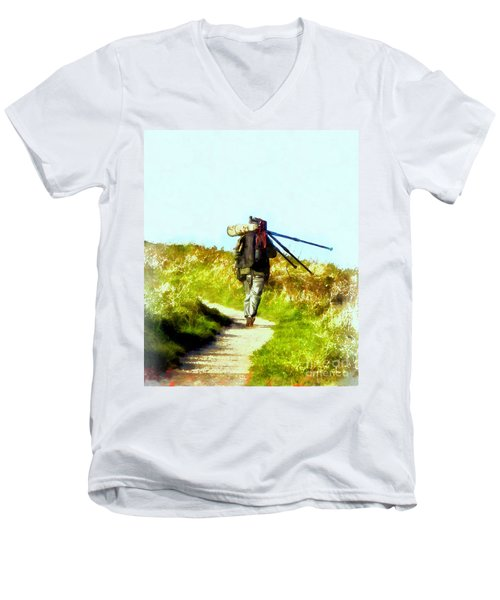 The Last Shot Men's V-Neck T-Shirt