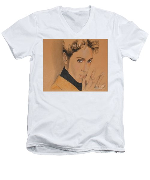 The Late Prince Rogers Nelson Men's V-Neck T-Shirt