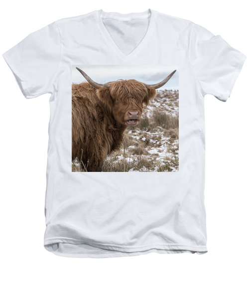 The Laughing Cow, Scottish Version Men's V-Neck T-Shirt by Jeremy Lavender Photography