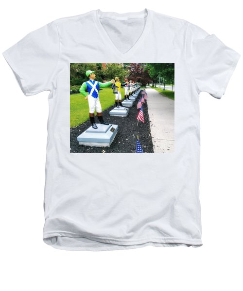 The Lawn Jockeys Of Saratoga Springs Men's V-Neck T-Shirt