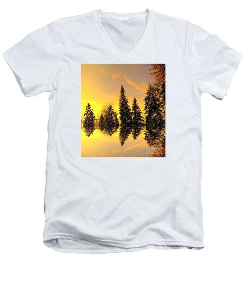 The Light Men's V-Neck T-Shirt by Elfriede Fulda