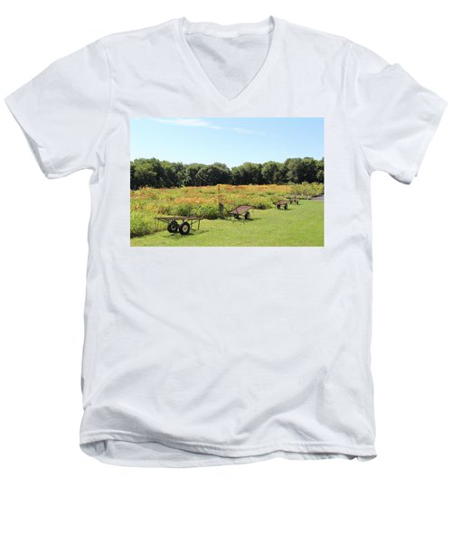 The Lilies Of The Fields Men's V-Neck T-Shirt