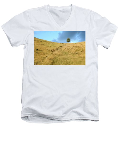 The Lines The Tree And The Hill Men's V-Neck T-Shirt by Yoel Koskas