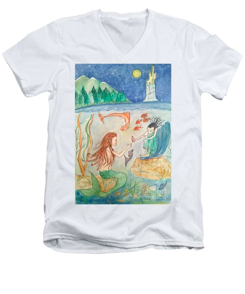 The Little Mermaid Men's V-Neck T-Shirt