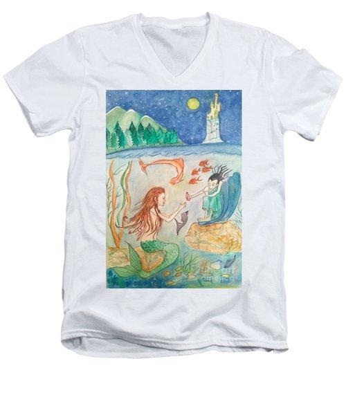 The Little Mermaid Men's V-Neck T-Shirt