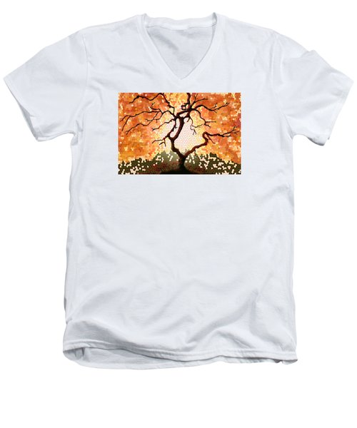 The Living Tree Men's V-Neck T-Shirt by Patricia Arroyo