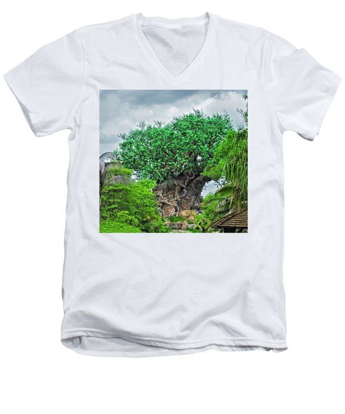 The Living Tree Walt Disney World Mp Men's V-Neck T-Shirt by Thomas Woolworth
