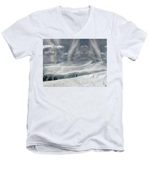 The Lone Boarder Men's V-Neck T-Shirt