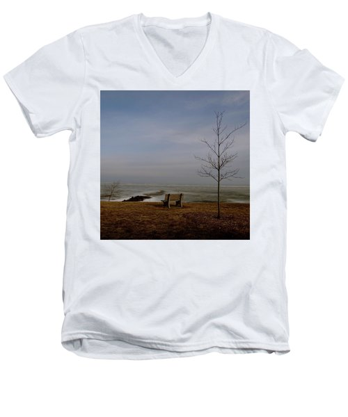 The Lonely Bench Men's V-Neck T-Shirt