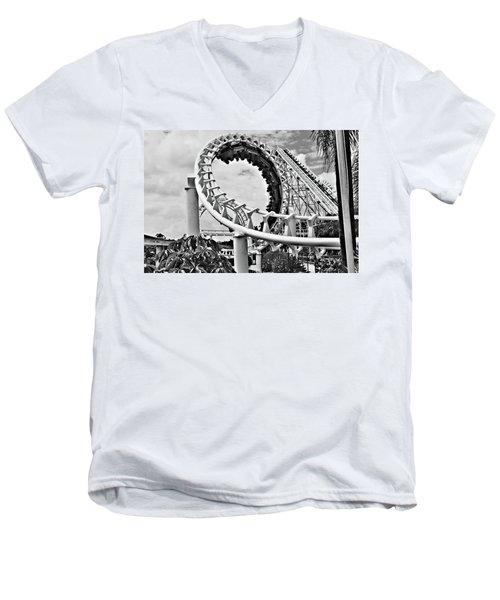 The Loop Black And White Men's V-Neck T-Shirt