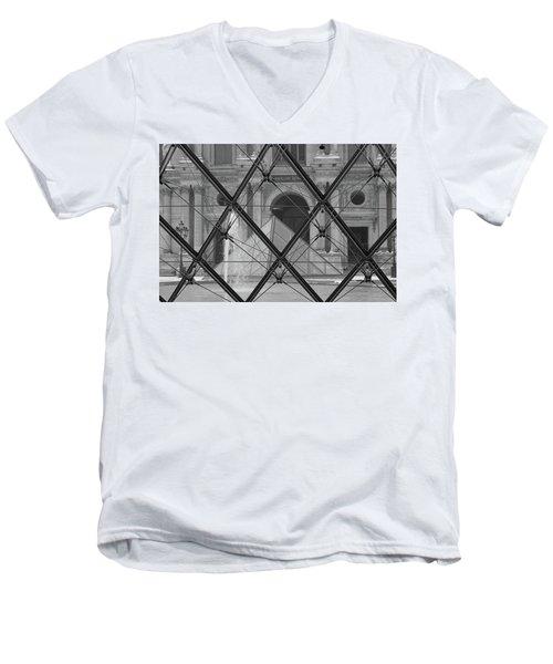 The Louvre From The Inside Men's V-Neck T-Shirt