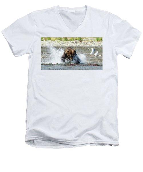 The Lunge Men's V-Neck T-Shirt