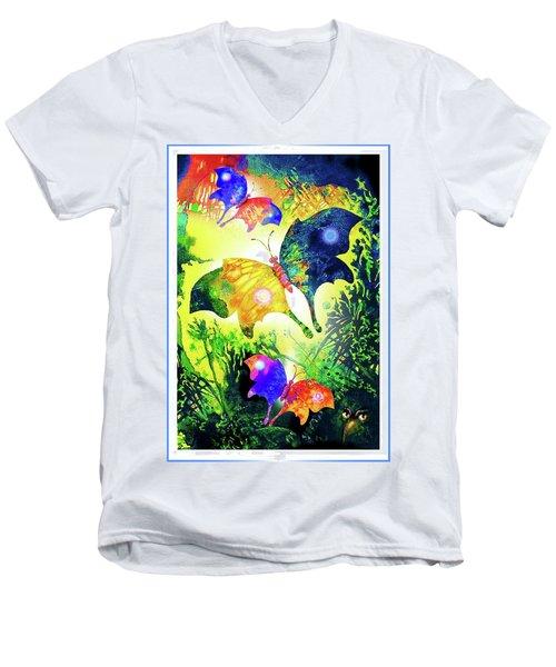 The Magic Of Butterflies Men's V-Neck T-Shirt