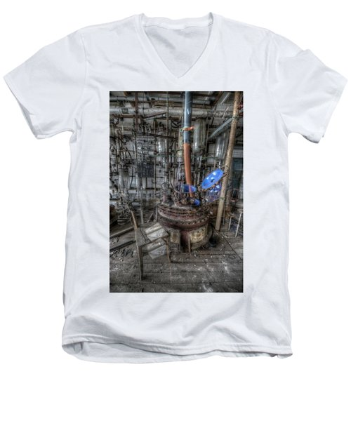 Men's V-Neck T-Shirt featuring the digital art The Manual  by Nathan Wright