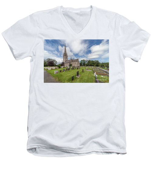 Men's V-Neck T-Shirt featuring the photograph The Marble Church by Adrian Evans