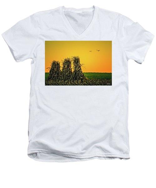 The Migration Of Summer Men's V-Neck T-Shirt by Skip Tribby