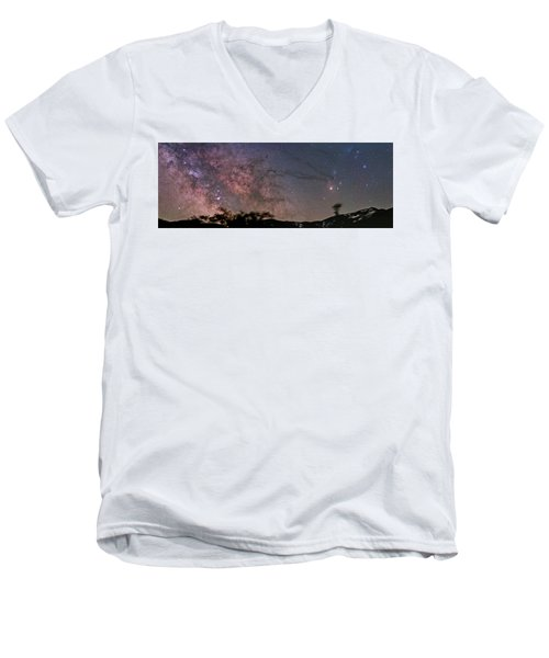 The Milky Way Core Men's V-Neck T-Shirt