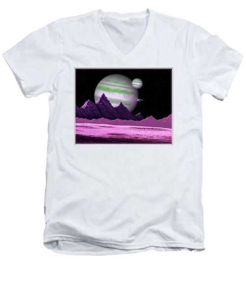 The Moons Of Meepzor Men's V-Neck T-Shirt