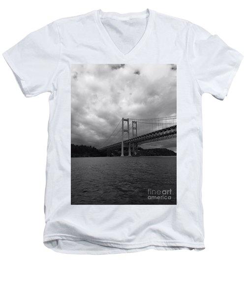 The Narrows Bridge Men's V-Neck T-Shirt
