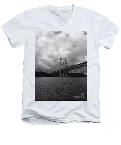 The Narrows Bridge Men's V-Neck T-Shirt