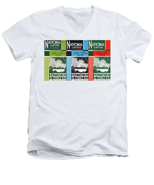 The National Limited Collage Men's V-Neck T-Shirt