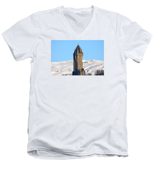 Men's V-Neck T-Shirt featuring the photograph The National Wallace Monument by RKAB Works