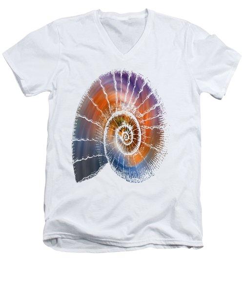 The Nautilus Shell  Transparent Men's V-Neck T-Shirt