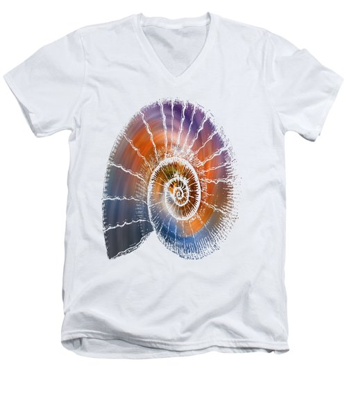 The Nautilus Shell  Transparent Men's V-Neck T-Shirt