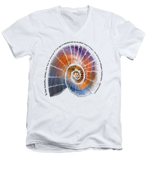 The Nautilus Shell Transparent -  Quote Men's V-Neck T-Shirt