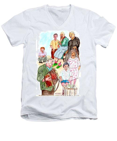 The Neighborhood Music Man Men's V-Neck T-Shirt