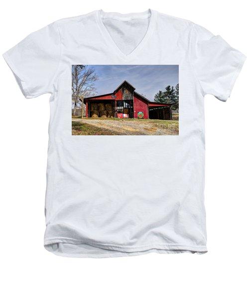 The New Barn Men's V-Neck T-Shirt by Paul Mashburn