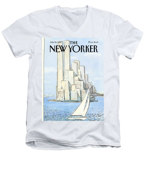 The New Yorker Cover - July 19th, 1982 Men's V-Neck T-Shirt
