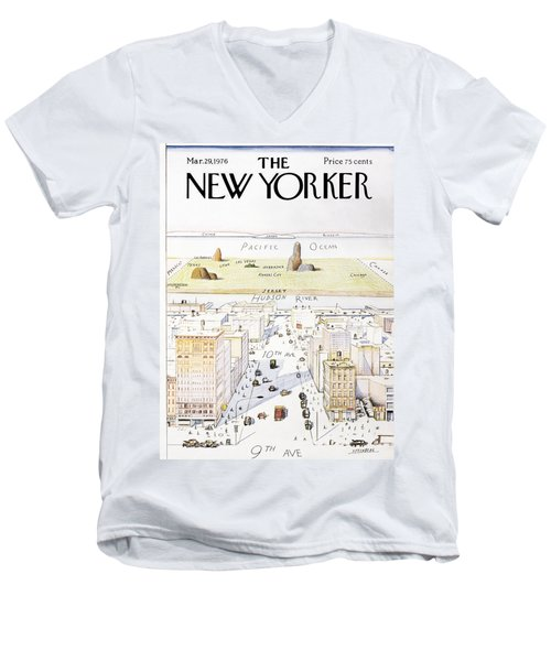 New Yorker March 29, 1976 Men's V-Neck T-Shirt