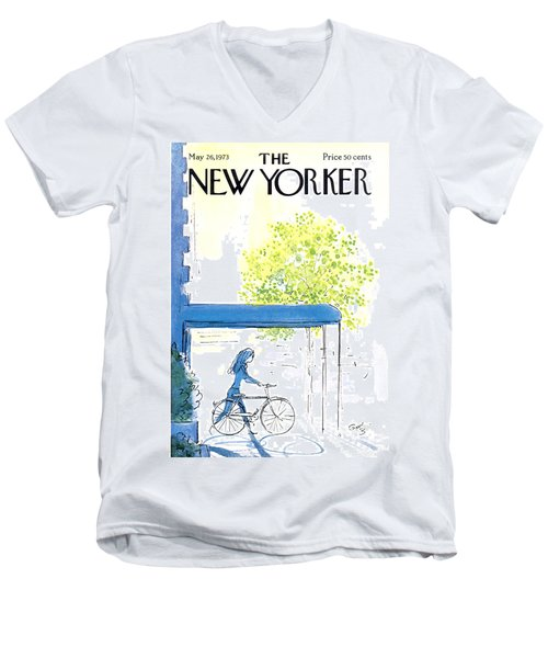 The New Yorker Cover - May 26th, 1973 Men's V-Neck T-Shirt