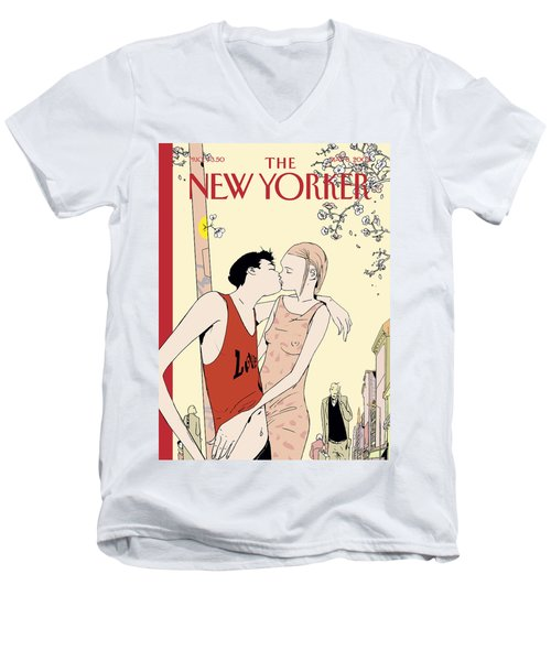 The New Yorker Cover - May 6th, 2002 Men's V-Neck T-Shirt