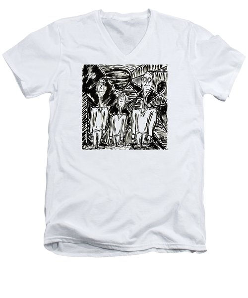 The Nod Trio Circa 1967 Men's V-Neck T-Shirt